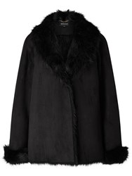 Bruce By Bruce Oldfield Short Faux Shearling Coat Black