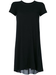 Sacai Contrast Panel T Shirt Dress Women Cotton Polyester Cupro 1 Black