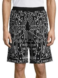 Marcelo Burlon Salomon Shorts Black White