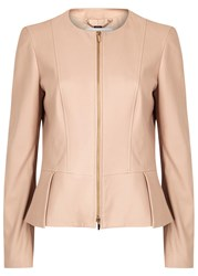 Hugo Boss Sassoon Blush Leather Jacket
