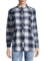 Beach Lunch Lounge Plaid Cotton Top Red
