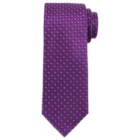 John Lewis Circle Dot Woven Silk Tie Purple Pink
