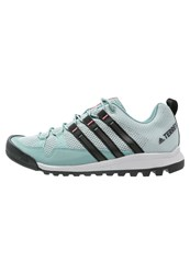 Adidas Performance Terrex Solo Walking Shoes Vapour Steel Core Black Tactile Pink Green