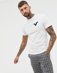 Voi Jeans Applique Swirl Logo T Shirt In White