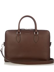 Burberry Barrow Leather Briefcase Brown
