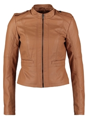 Noisy May Nmmacy Faux Leather Jacket Thrush Light Brown