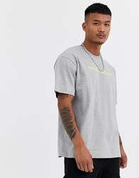Good For Nothing Oversized T Shirt In Grey With Racer Logo