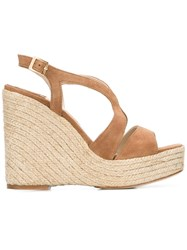 Paloma Barcelo Wedge Sandals Nude Neutrals