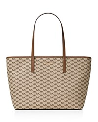 Michael Michael Kors Studio Large Emry Top Zip Tote Natural Luggage Gold