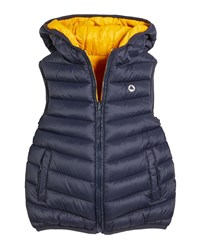 Mayoral Hooded Reversible Padded Puffer Vest Blue