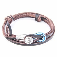 Anchor And Crew Dark Brown Dundee Leather Bracelet