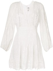 Alexis Floral Embroidered Dress White