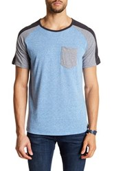 Burnside Heather Colorblock Crewneck Tee Blue