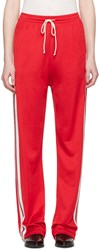 Maison Martin Margiela Mm6 Red Striped Lounge Pants