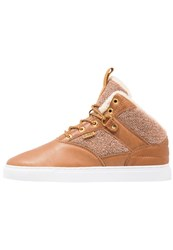 Djinn's Thomson Left Sports Hightop Trainers Wheat Light Brown