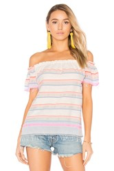 Lemlem Hayat Off Shoulder Top Pink