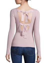 Elizabeth And James Fay Tie Back Sweater Pale Pink