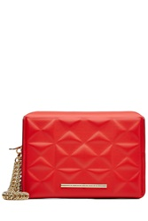 Roland Mouret Leather Clutch Red