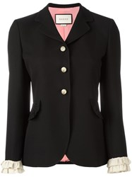 Gucci Ruffle Detail Jacket Black