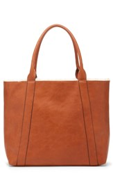 Sole Society Drury Faux Shearling Reversible Tote Brown Cognac Combo