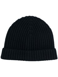 Aspesi Ribbed Beanie Black