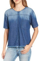 Women's Bp. Distressed Chambray Top