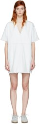 Maison Martin Margiela Mm6 Blue Denim Short Dress