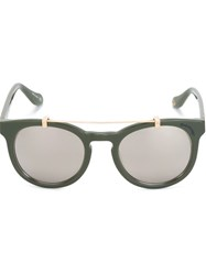 Vivienne Westwood Anglomania Mirrored Sunglasses Green