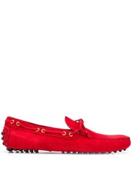 Car Shoe Logo Boat Shoes Red