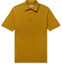 Private White V.C. Slim Fit Merino Wool Polo Shirt Brown