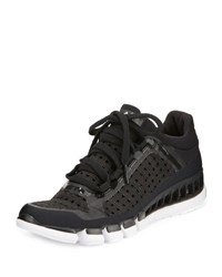 Adidas By Stella Mccartney Clima Cool Knit Running Sneaker Black White