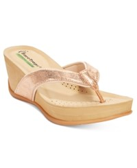 Bare Traps Gammie Wedge Sandals Women's Shoes Rose Gold