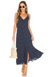 Eight Sixty Polka Dot Dress Navy