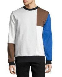 Wesc Miles Colorblocked Pullover Shirt Blue