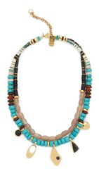 Lizzie Fortunato Turquoise Trail Necklace Turquoise Multi