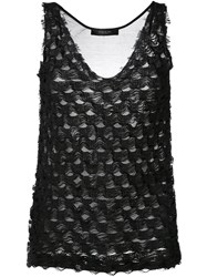 Federica Tosi Textured Tank Women Silk Cotton Xs Black