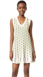 M Missoni Geometric Dress Ivory