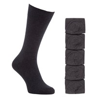 John Lewis Cotton Rich Socks Pack Of 5 Charcoal
