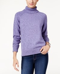 Karen Scott Marled Turtleneck Sweater Only At Macy's Purple Bliss Marl