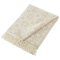 Bronte By Moon Snowflake Throw Natural White
