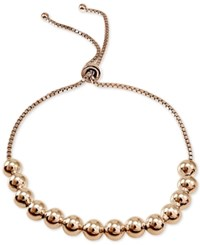 Giani Bernini Beaded Box Link Adjustable Bracelet In 18K Rose Or Yellow Gold Plated Sterling Silver Or Sterling Silver Only At Macy's Rose Gold
