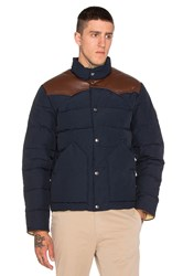 Penfield Pelam Leather Yoke Down Jacket Navy