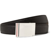 Thom Browne 2.5Cm Black Pebble Grain Leather Belt