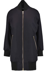 Rag And Bone Wool Blend Bomber Jacket Midnight Blue