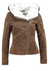 Freaky Nation Conny Leather Jacket Cashmere Birch Beige