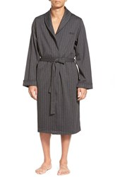 Men's Boss Cotton Robe Black