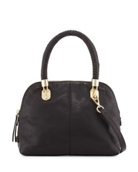 Cole Haan Benson Small Leather Dome Satchel Bag Black