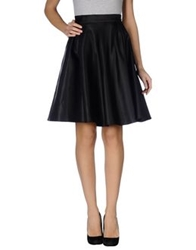 Mary Jane Knee Length Skirts Black