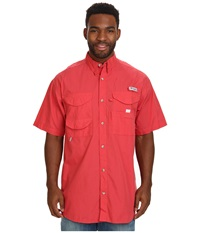 Columbia Bonehead S S Shirt Sunset Red Men's Short Sleeve Button Up Multi
