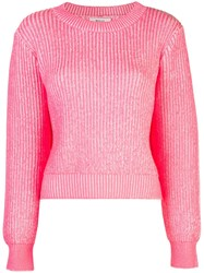 Milly Ribbed Knit Jumper Pink